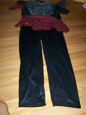 Boy's Size XL X Large 18-20 Death Warrior Halloween Costume Jumpsuit EUC