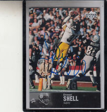 """1997 UPPER DECK LEGENDS DONNIE SHELL """"PITTSBURGH STEELERS AL-24"""" AUTO AUTOGRAPH"""