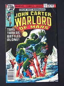 John Carter Warlord of Mars #18 1977  F  **1st Frank Miller Art At Marvel**