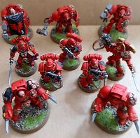 Space Marine Blood Angels Terminator Assault Squad Citadel Pro Painted Warhammer