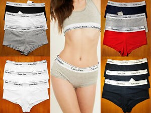 Calvin Klein Women's 3 PACK Sport BOYSHORTS BRAS Cotton Underwears ALL COLOURS