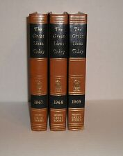 THE GREAT IDEAS TODAY GB BRITANICA GREAT BOOKS SET OF 3 : 1967 1968 1969 YEAR