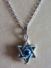 "18""  925 Sterling Silver Chain Evil Eye Star Pendant Necklace Good Luck Fortune"