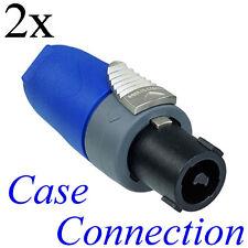 2x NEUTRIK NL2FX # Speakon Stecker - 2polig # Speaker Plug - 2 pole