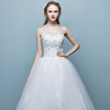 872318b72adc New Flower White Lace Strapless A Line Wedding Dress Bridal Gowns