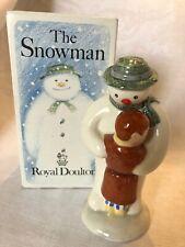 Royal Doulton Thank You Snowman Figurine W/Original Box