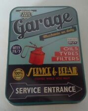 Retro Garage Sign Keepsake Tin Garage Workshop Tobacco Mints Trinkets