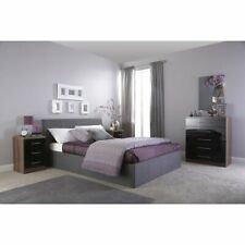 Modern Upholstered Ottoman Double Bed Frame With Lift Storage Grey Size 4FT6