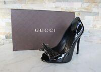 GUCCI Gr 36 Open-Toes Pumps High Heels Abendschuhe Schuhe schwarz NEU UVP 595 €