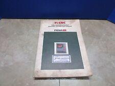 FIDIA F1/CNC NUMERICAL CONTROL MANUAL CNC