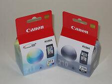 Canon OEM PG210 black CL211 color ink 210 MP270 MP280 MP490 MP250 iP2702 MP230