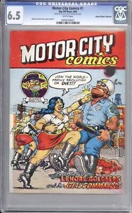 MOTOR CITY COMICS #1 - CGC 6.5 - 1969 / 1ST PRINTING / HARLAN ELLISON COLLECTION
