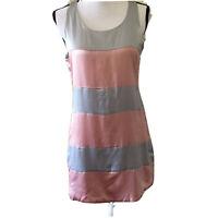 Silk Box 100% Silk Banded Shift Sleeveless  Short Dress Sz M