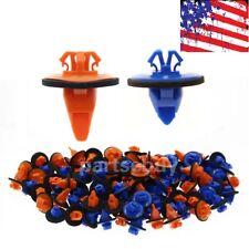 100x Orange & Blue 4Runner Tacoma Trim Moulding Clips 75395-35070 & 75396-35020