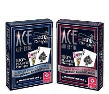 2x NEW Cartamundi Ace 100% Plastic Cards USA Made Durable Washable Casino Poker