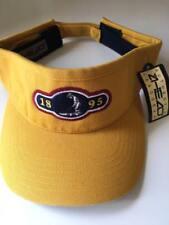 NWT AHEAD Authentic Headgear Sports Golf Visor 1895 logo MUSTARD