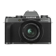 Fujifilm X-T200 Mirrorless Camera with XC 15-45mm f/3.5-5.6 Lens (Dark Silver)