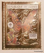 PAPILLON SCOUTISME Guinée Timbre  OR 1989 an 18