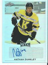 2016-17 Leaf Metal Hockey NATHAN DUNKLEY #BA-ND1 Autograph Kingston Frontenacs