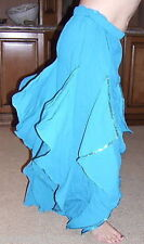 PETITE ADULT TURQUOISE GREEN ENDLESS WAVE HAREM PANTS CHIFFON SMALL ADULT. INDIA