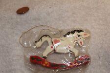 Vintage wood Christmas ornament rocking horse