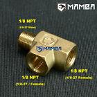 MG MIDGET MGA MGB GT MGC 1/8NPT OIL PRESSURE GAUGE BRASS ADAPTOR T PIECE
