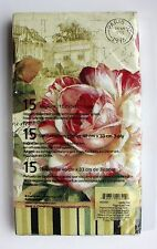*CYPRESS HOME Set of 15 Guest Towel Buffet Decoupage Napkins ~Garden View Floral