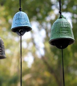 Traditiona Japanese Furin Wind Chime Nambu Cast Iron bell Iwachu Bel