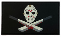 Glow in The Dark - Friday The 13th - PVC Morale Patch with Hook and Loop Backing