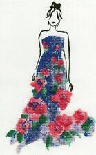 14ct Printed Cross Stitch Kit - DMC - Rose Ball - Fashion - 14 x 24cm Stamped