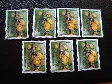 COTE D IVOIRE - timbre yvert/tellier n° 392 x7 obl (A28) stamp