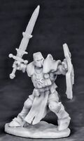 1x CRUSADER CHAMPION attacking - BONES REAPER figurine miniature rpg armor 77550