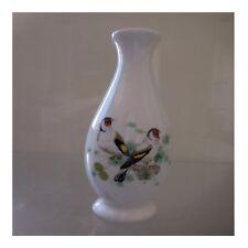 Vase soliflore chardonnerets porcelaine art nouveau déco signature PN France N53