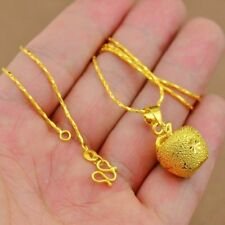 Christmas Eve Imitation Gold Matte Solid Pendant Necklace 24K Gold Jewelry