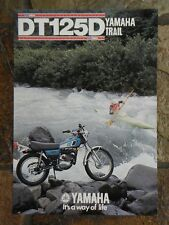 Yamaha DT125D  Sales Brochure,  1977 Original NOS
