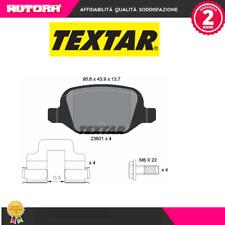 2360102 Kit pastiglie freno, Freno a disco posteriori Fiat-Lancia (MARCA-TEXTAR)