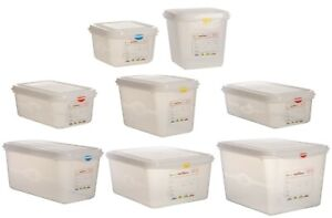 Heavy Duty Polypropylene Gastronorm Food Catering Kitchen Containers + Lids