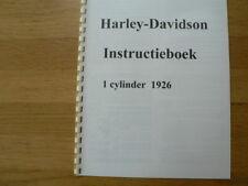 H0011 HARLEY-DAVIDSON---INSTRUCTIE BOEK 1 CYLINDER----MODELYEAR ABOUT--CA.1926