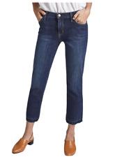 Current Elliott Women's Crop Straight Raw Hem Stretch Mid-Rise Jean, Hampton 30