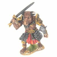 Minotaur with Sword and Mace Warhammer Fantasy Armies 28mm Unpainted Wargames