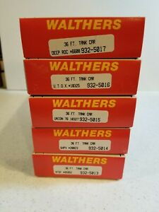 Walthers 36 ft Tank Cars (Lot of 5) (B)
