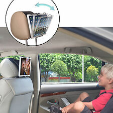 TFY Car Headrest Mount Holder With Angle- Adjustable Holding Clamp for Tablets