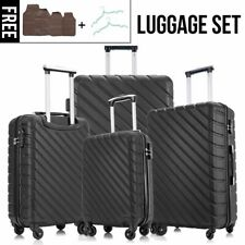 4Pcs Travel Luggage Set Hardside Spinner Suitcase ABS Trolley Lightweight w/Lock