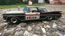 altes T.N Blechauto Polizei Jeep Blechspielzeug Antennenschaltung 60er Jahre OVP Blechspielzeug