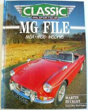 Classic and Sportscar MG FILE MGA MGB MGC V8 Martin Buckley ISBN 060055208X Book