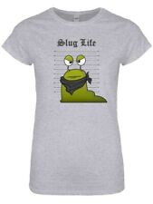 T-shirt Slug Life Line Up Women's Grey