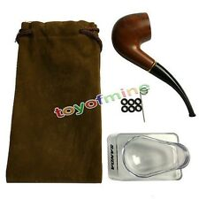 Durable Smoking Pipe Tobacco Cigarettes Cigar Pipes Filter Ebony Wooden Gift