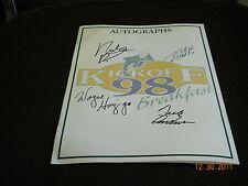 MIAMI DOLPHINS 1998 KICKOFF BREAKFAST PROGRAM 7/23/98 AUTOGRAPH Wayne Huizenga