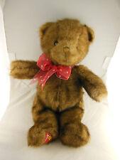 """16"""" Dakin Teddy Bear With Faux Brown Mink Fur & Dakin Logo Patch on Foot"""