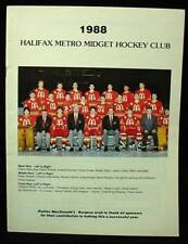 Vintage Brochure 1988 Halifax Metro Midget Hockey Club Booklet